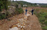 Càlig, l'Ajuntament avalua els danys de les pluges i treballa en la reparació dels camins rurals