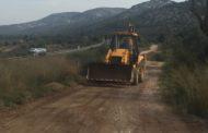 Santa Magdalena, l'Ajuntament inicia la reparació dels camins rurals afectats per la gota freda