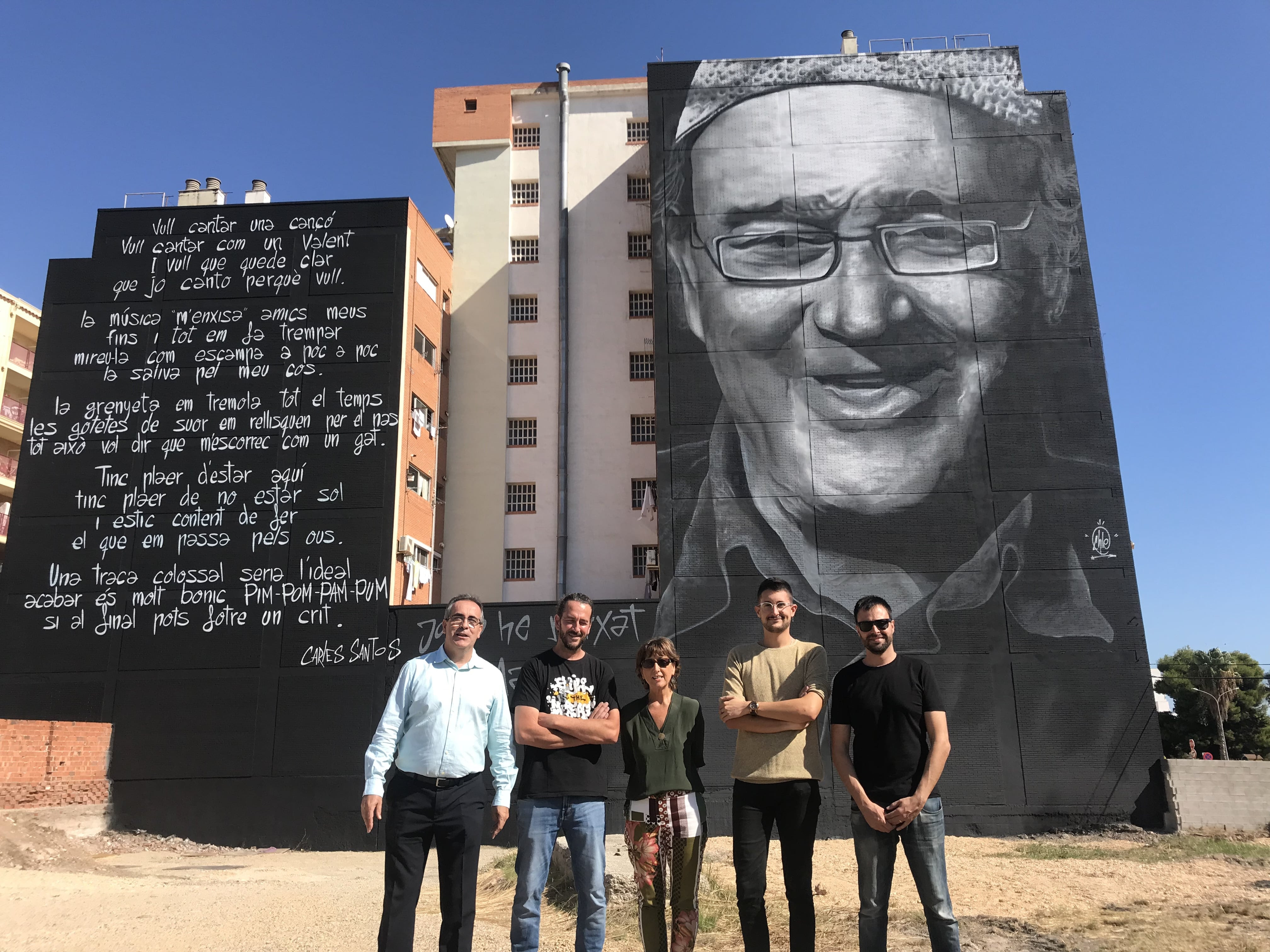 Vinaròs, es presenta de forma oficial el mural d'homenatge a Carles Santos