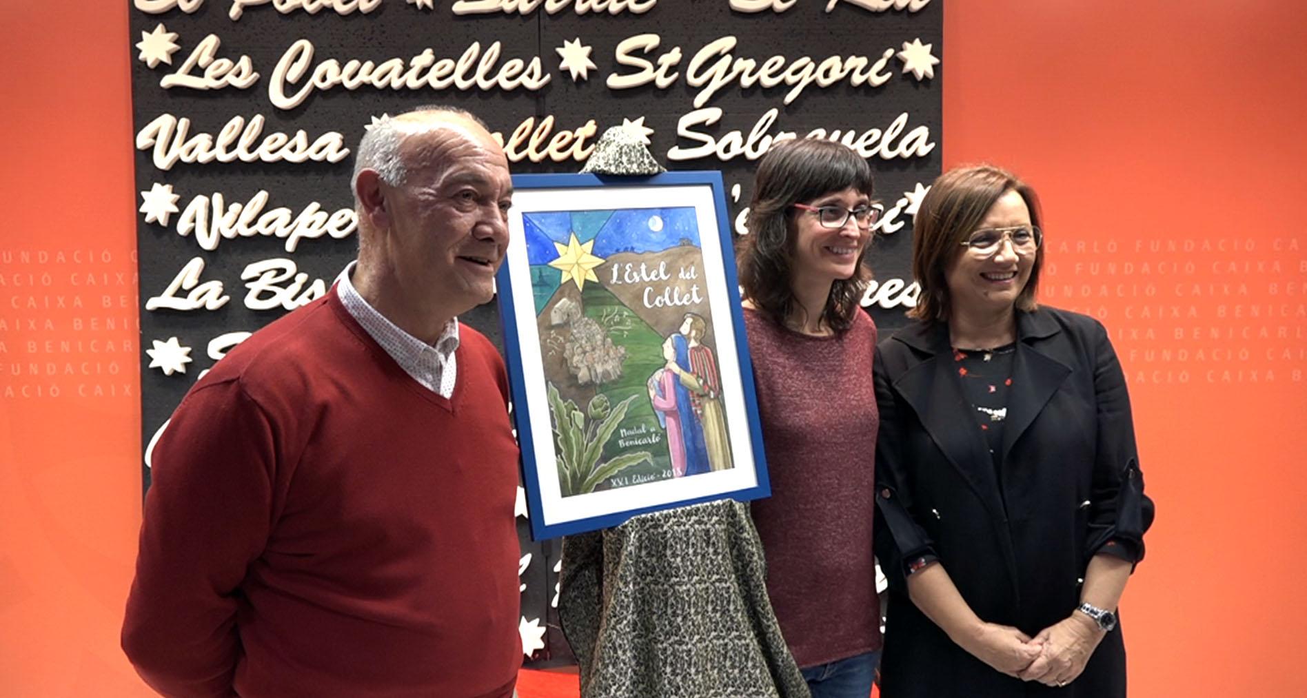 Benicarló presenta el cartell anunciador de la 21a edició de l'obra de teatre de l'Estel del Collet