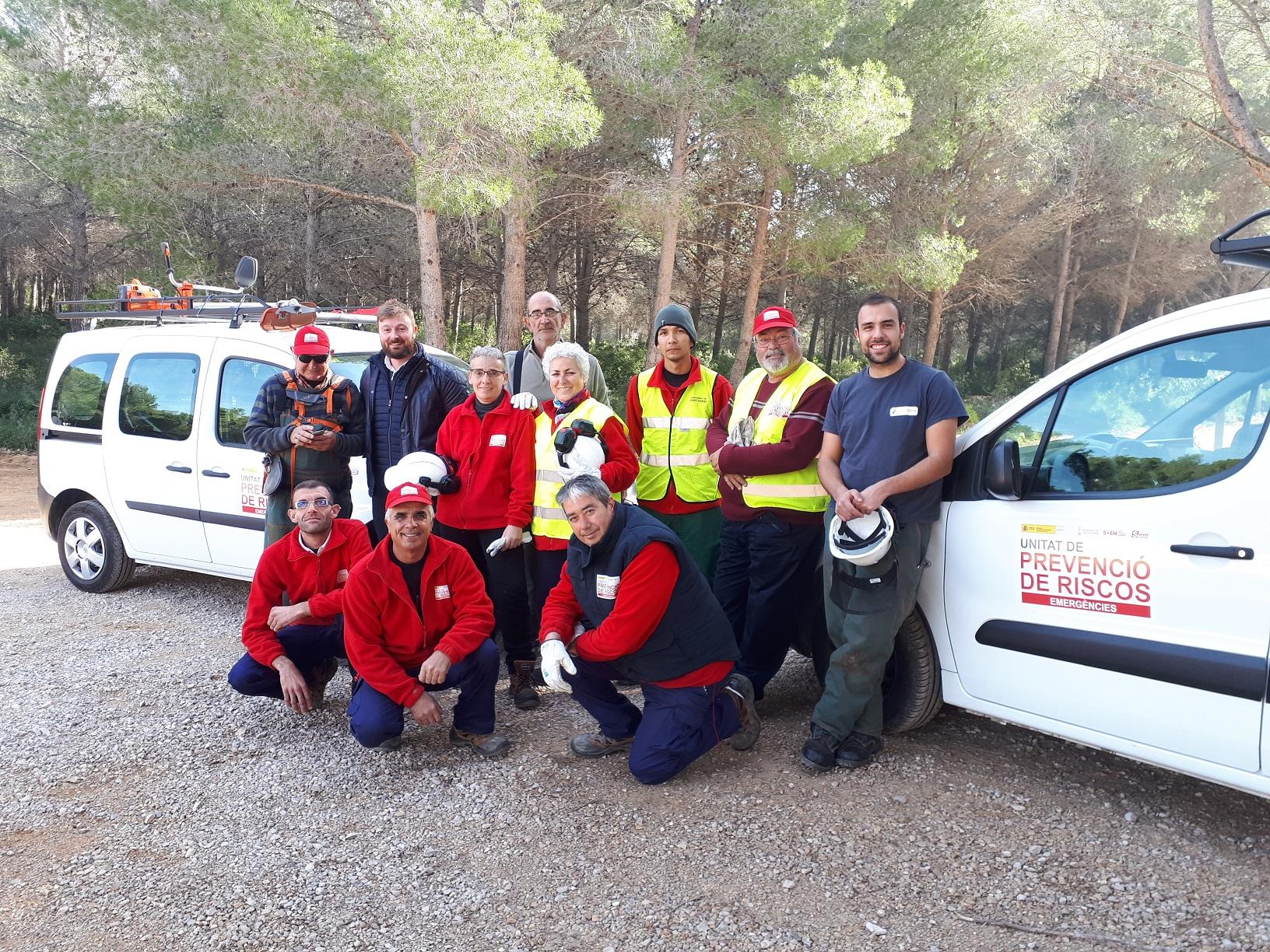 Sant Jordi, la Brigada EMERGE realitza tasques de preservació i neteja de l'entorn del Bovalar