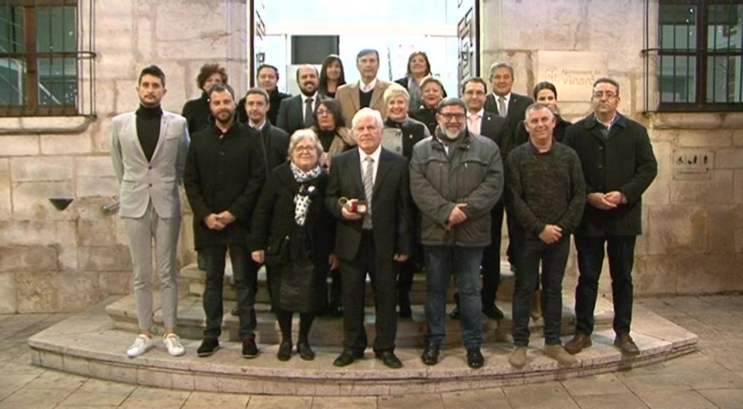 Vinaròs entrega la Medalla de la Ciutat a la Cultura a Rossend Aymí