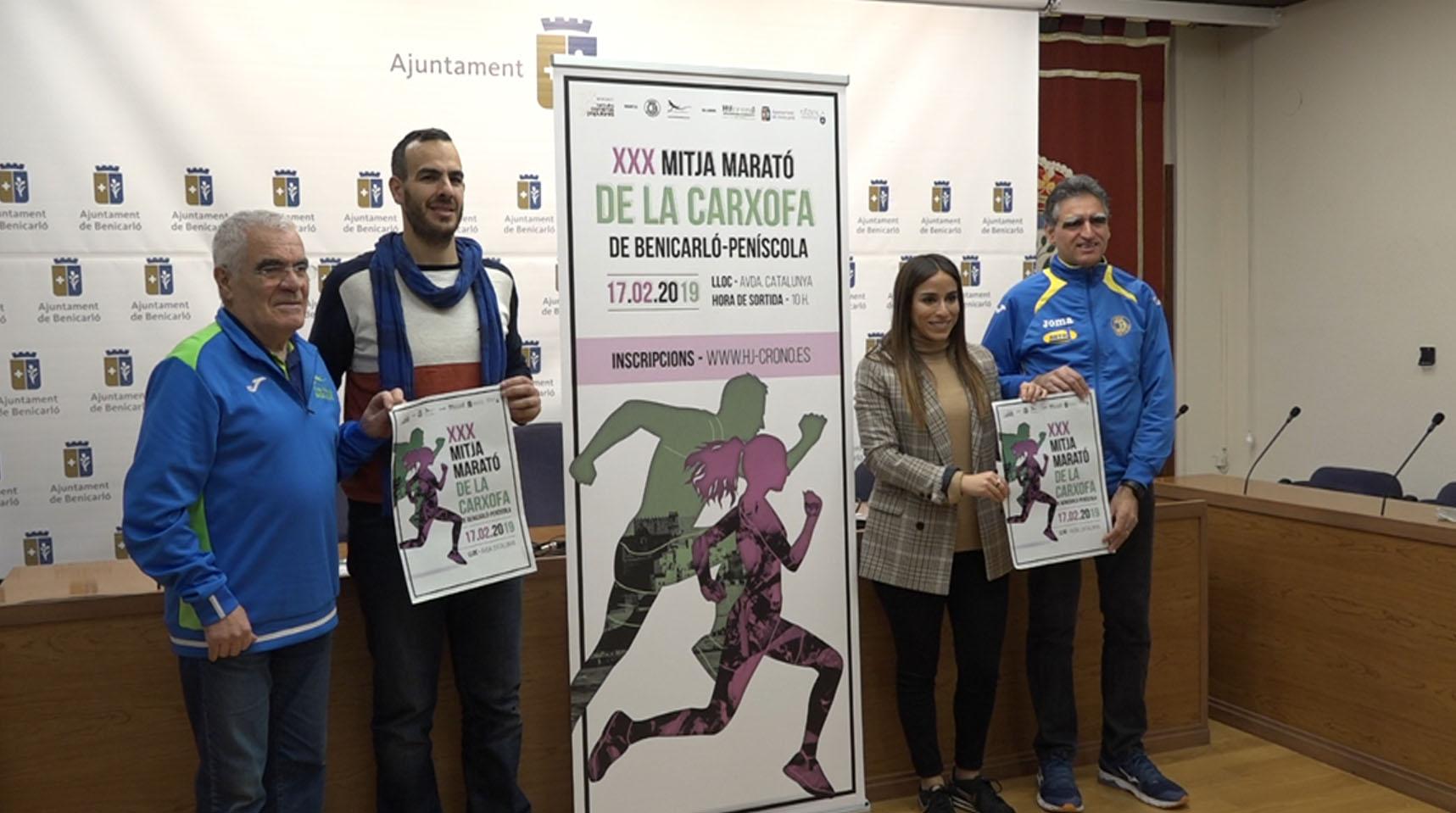 Benicarló acollirà el 17 de febrer la 30a edició de la Mitja Marató de la Carxofa