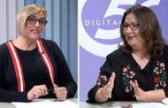 L'ENTREVISTA. Ernestina Borrás, alcaldessa, i Ruth Sanz, regidora de Cultura, de l'Ajuntament de Càlig 26-04-2019