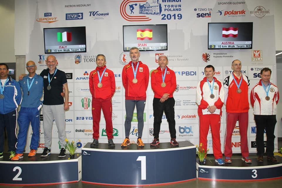 Càlig, l'atleta Miguel Ángel Carvajal aconsegueix tres medalles en el Mundial Màster celebrat a Polònia