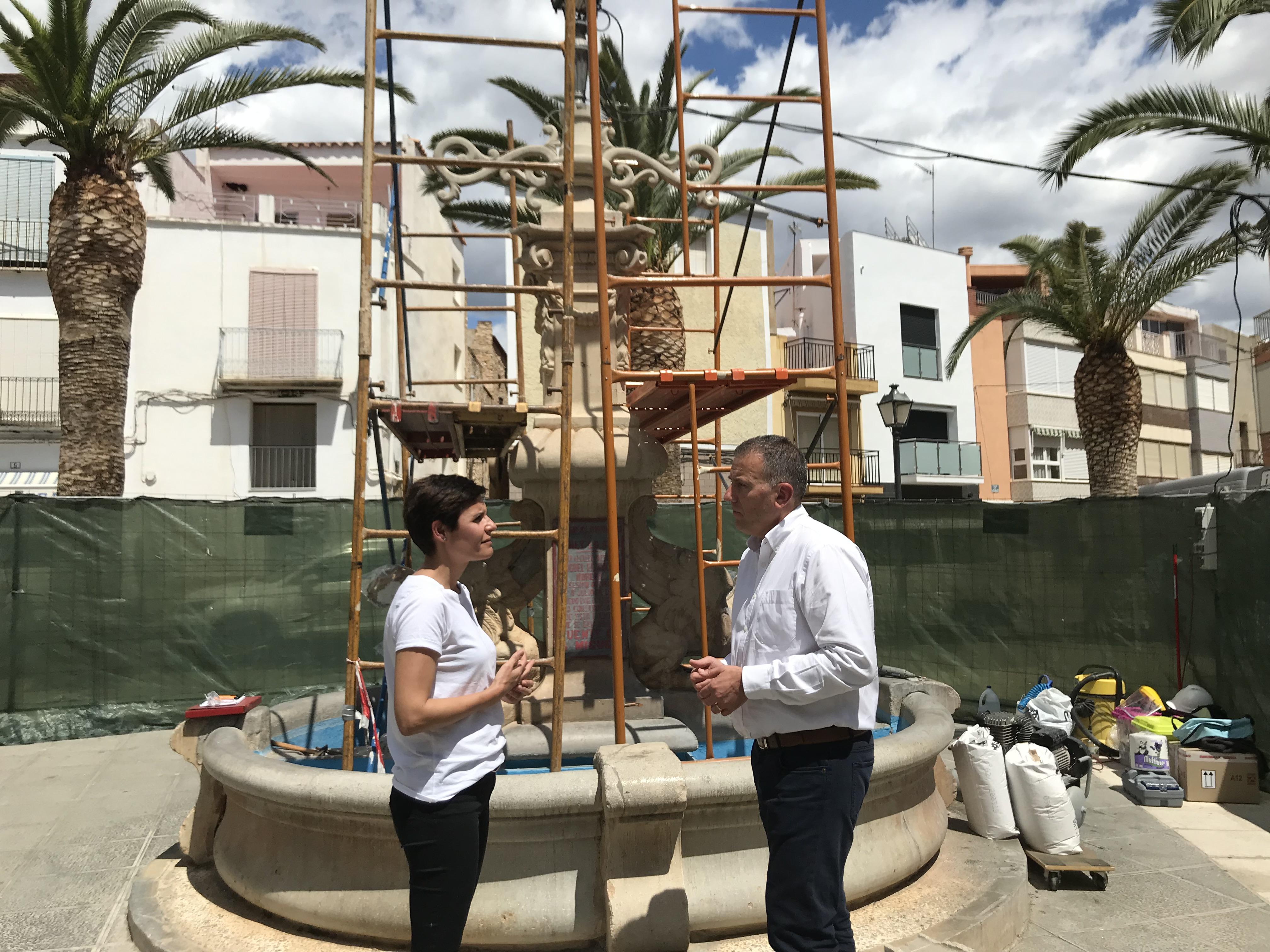 Canet, la Diputació inicia les feines de restauració a la Font de Sant Miquel