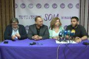 Vinaròs, Roda de premsa de Totes i Tots SOM Vinaròs 24-05-2019