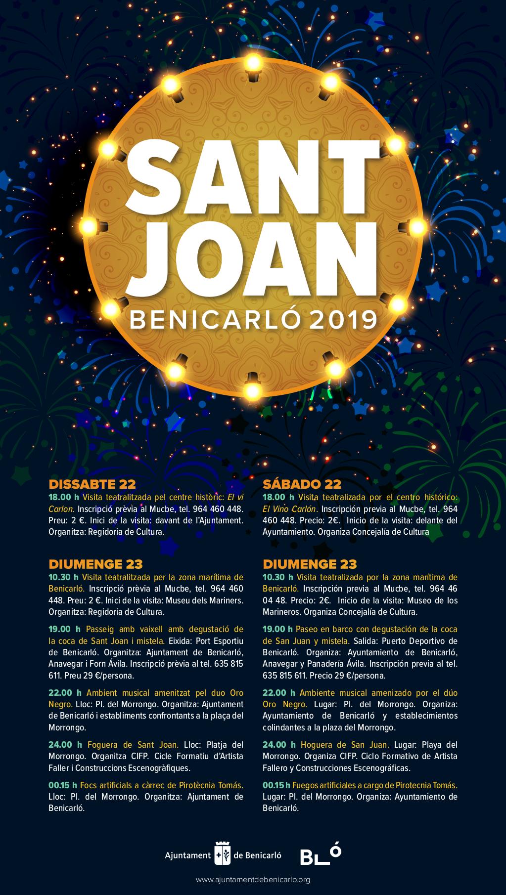 Benicarló donarà la benvinguda a l'estiu amb una programació especial per a la revetlla de Sant Joan