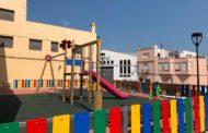 Càlig, acaben les feines d'adequació del parc infantil de la plaça Ramón i Cajal