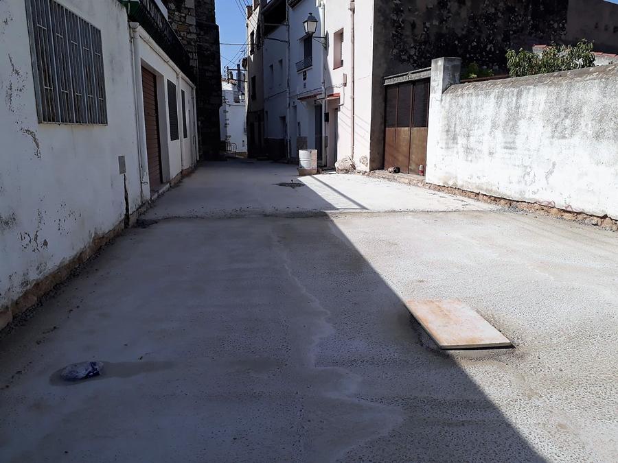Rossell, les feines d'adequació del carrer Sant Antoni avancen a bon ritme