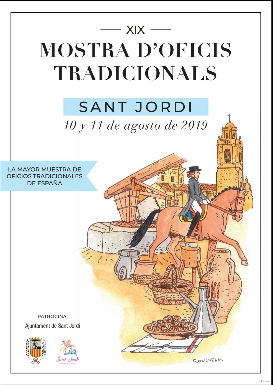 Sant Jordi celebrarà a partir de demà la 19a edició de la Mostra d'Oficis Tradicionals