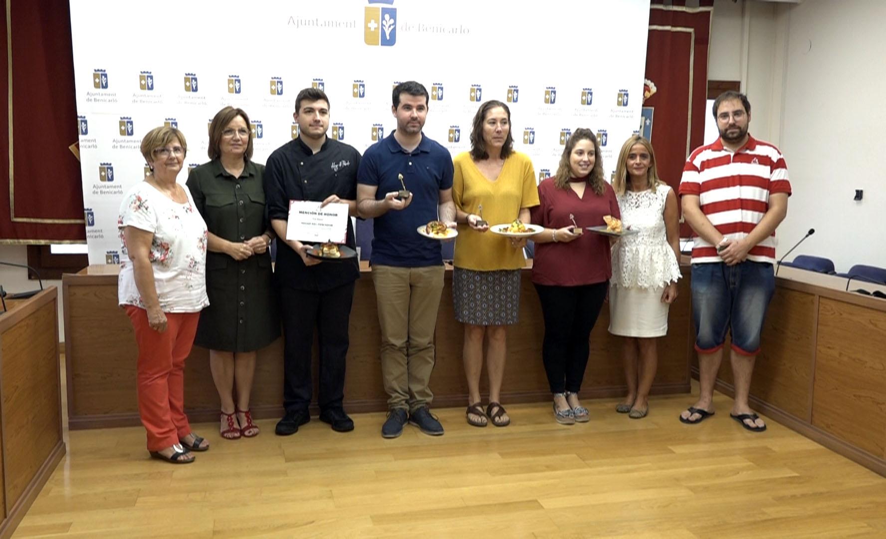 Benicarló, es premien les millors tapes de les Jornades del Pinxo del Polp a Caduf