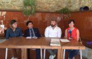 Traiguera; roda de premsa de la Mancomunitat de la Taula del Sénia 04-09-2019