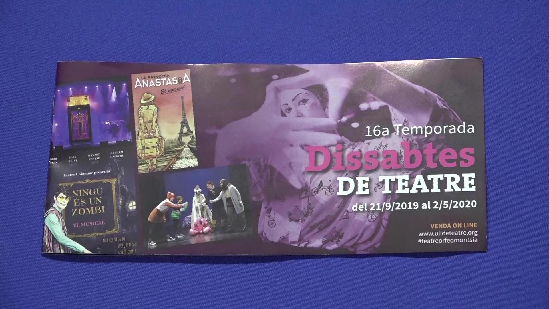 Ulldecona, es presenta la nova temporada de Dissabtes de Teatre