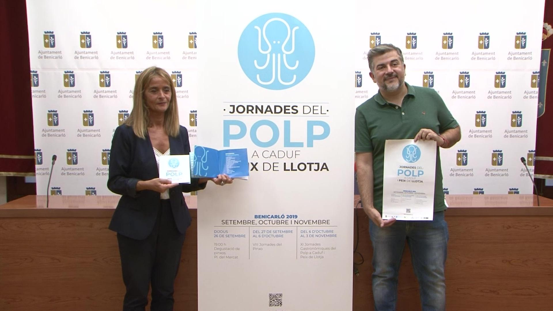 Benicarló presenta les 11è Jornades Gastronòmiques del Polp a Caduf i Peix de Llotja