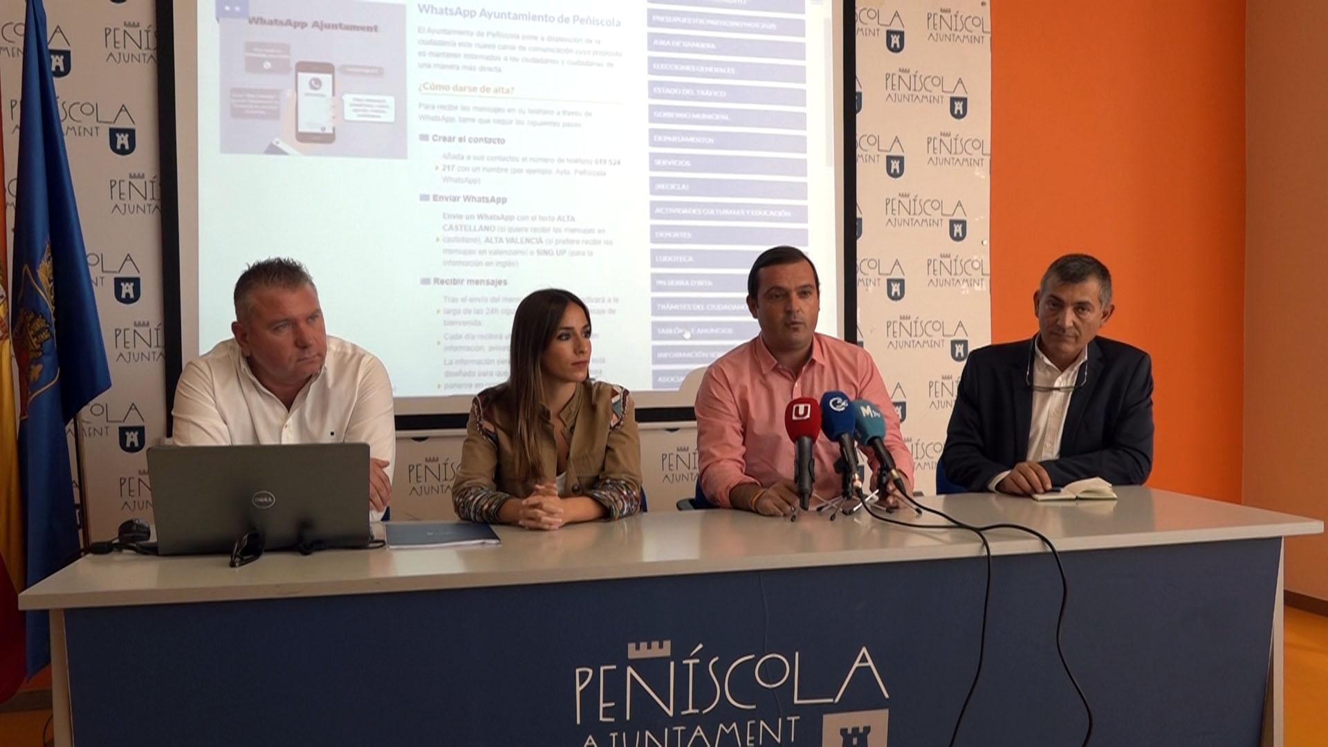 Peníscola engega un nou canal de comunicació a través del WhattsApp