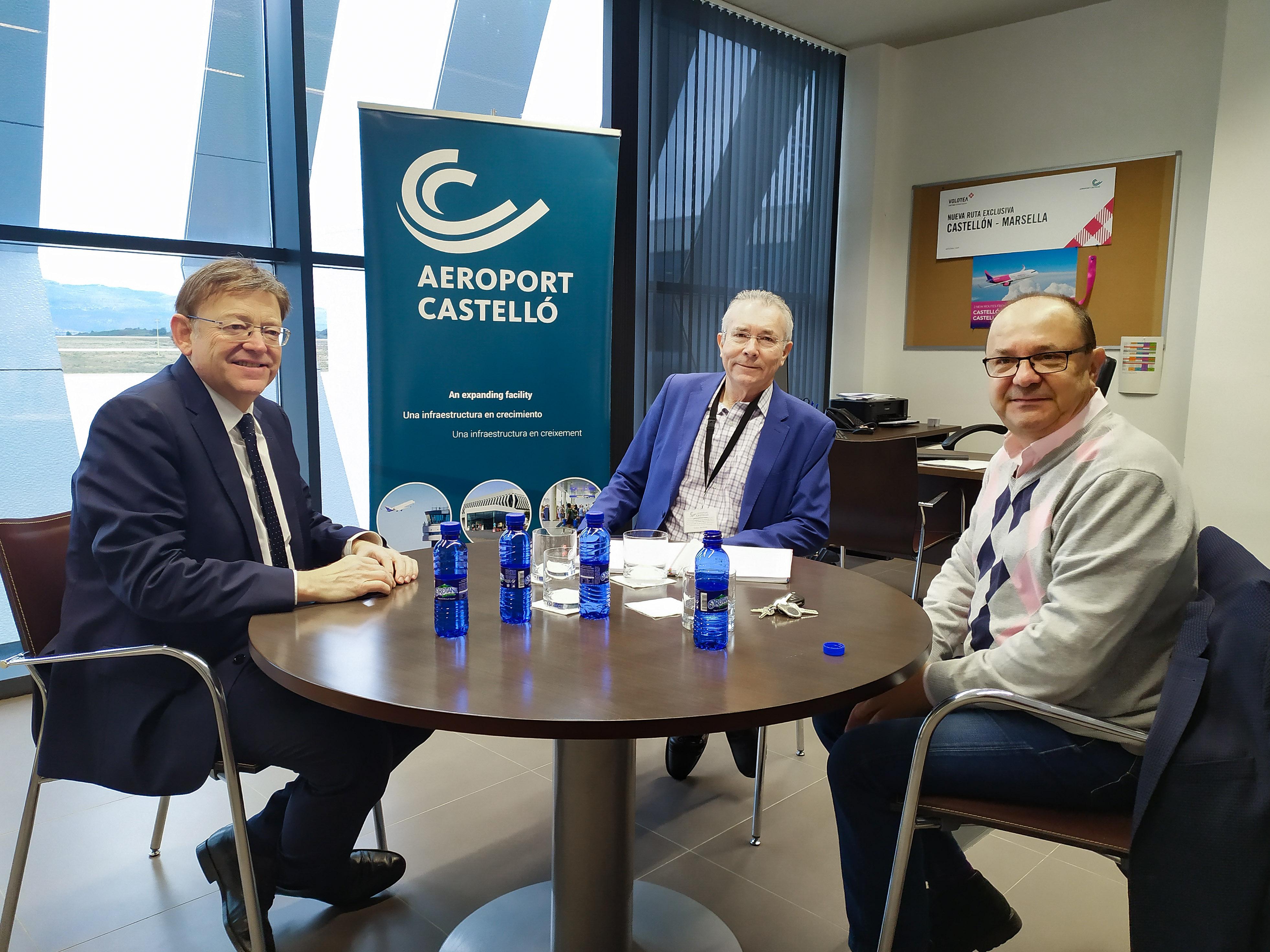 Ximo Puig destaca que la segona ruta de l'aeroport de Castelló a Londres reforçarà la connectivitat amb el mercat britànic