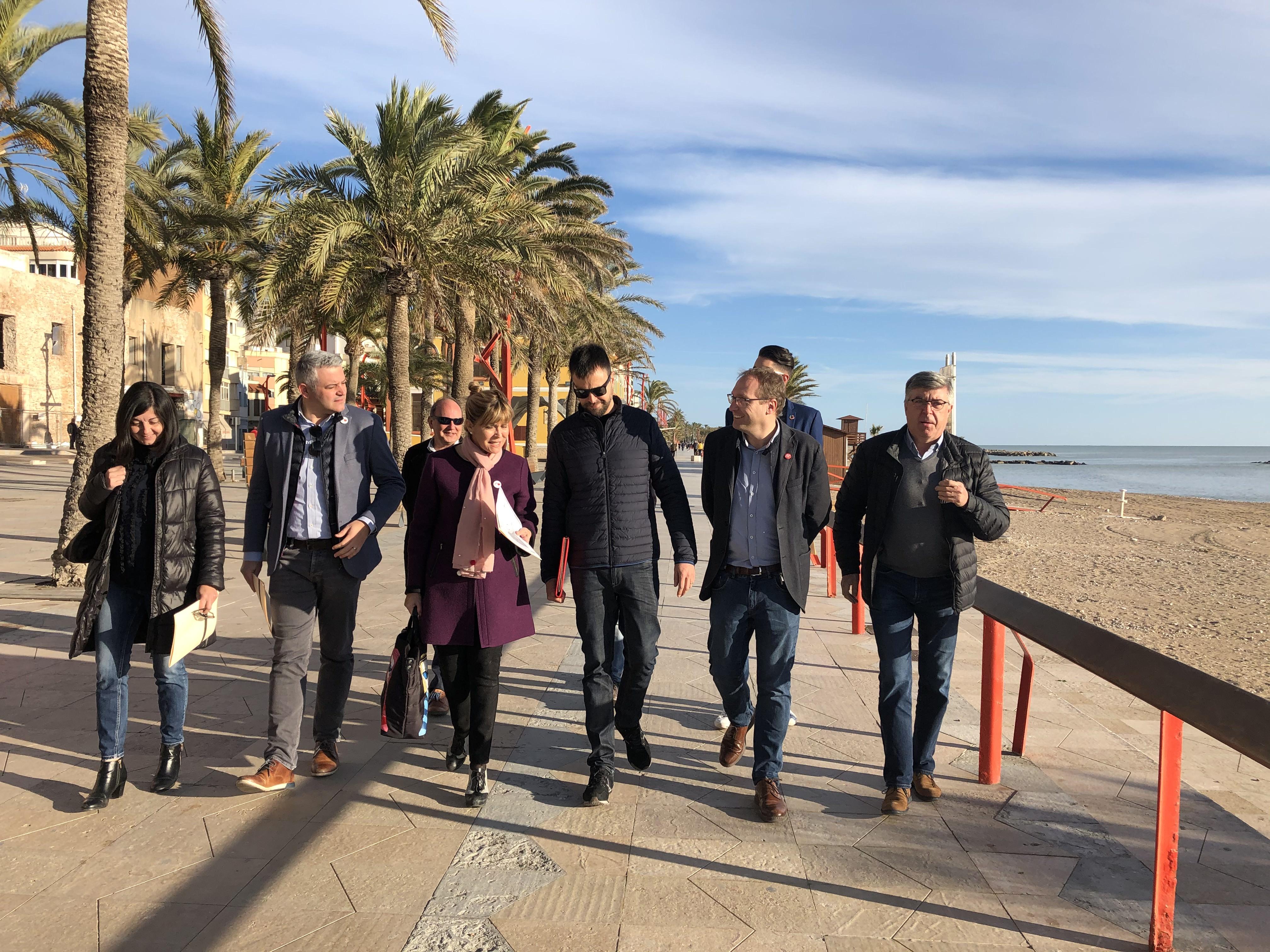 El PSPV-PSOE de la província de Castelló es compromet a continuar reivindicant davant Pedro Sánchez la regeneració de la costa de Vinaròs