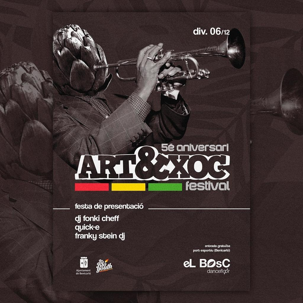 Benicarló presenta el 6 de desembre la cinquena edició del festival Art&Xoc
