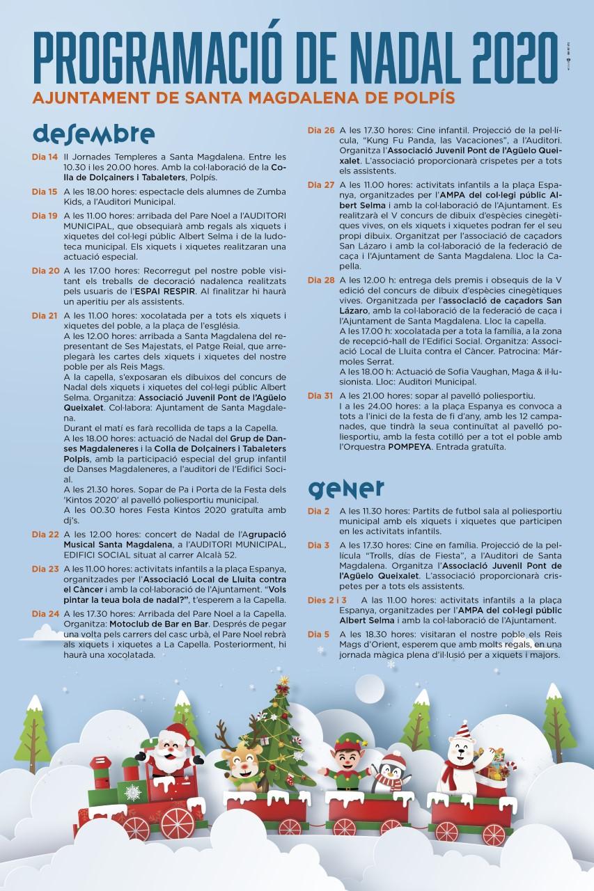 Santa Magdalena programa més d'una vintena d'actes per a celebrar el Nadal