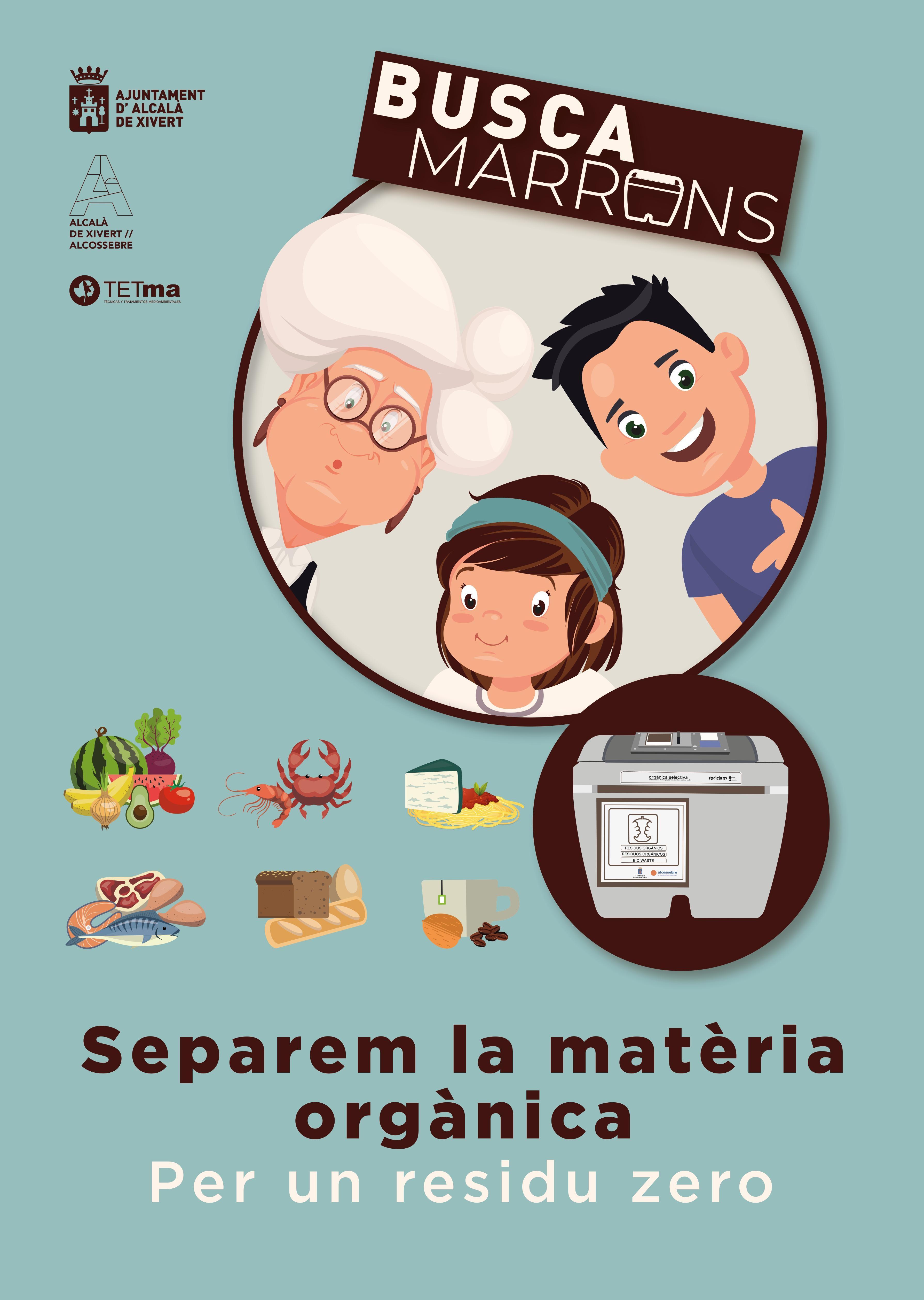 L'Ajuntament d'Alcalà-Alcossebre completa amb un vídeo animat la campanya ciutadana sobre l'ús del contenidor marró
