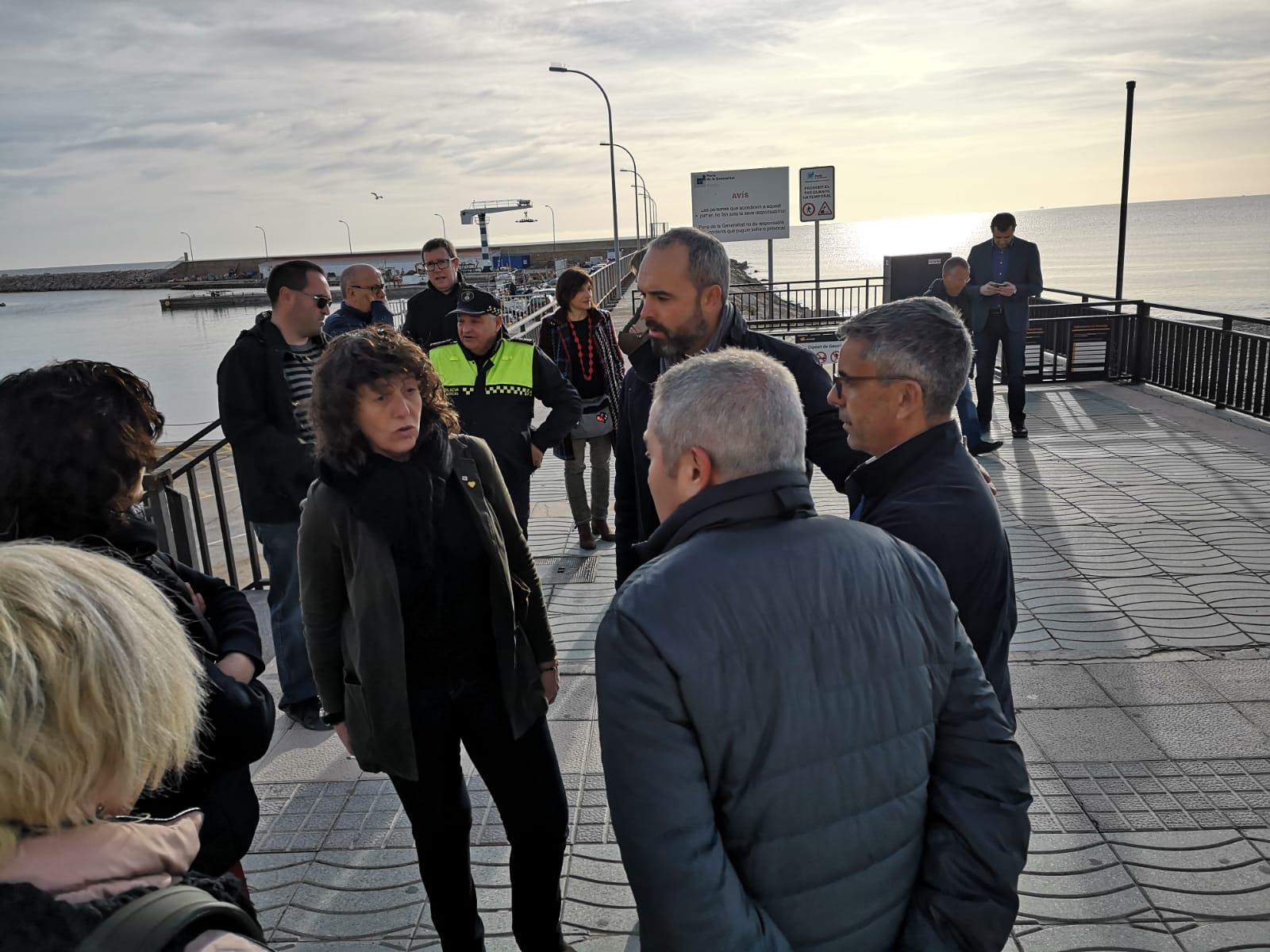 La consellera d'Agricultura i Pesca, Teresa Jordà, ha fet una visita tècnica a les Cases d'Alcanar