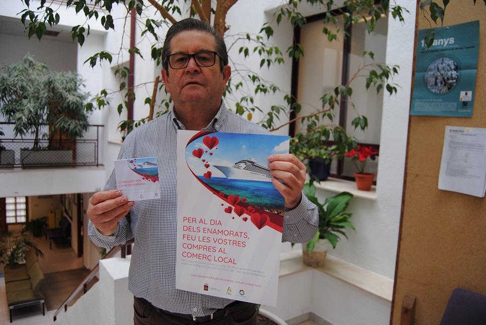 La Regidoria de Comerç d'Alcalà-Alcossebre sorteja dos creuers entre les compres de la campanya del Dia dels Enamorats