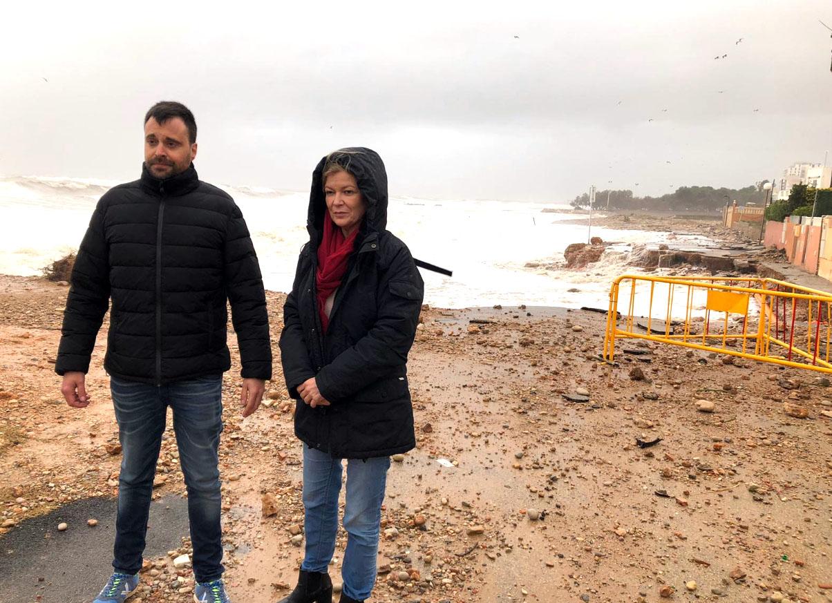 L'Ajuntament de Vinaròs fa una primera valoració dels danys ocasionats per la borrasca Glòria