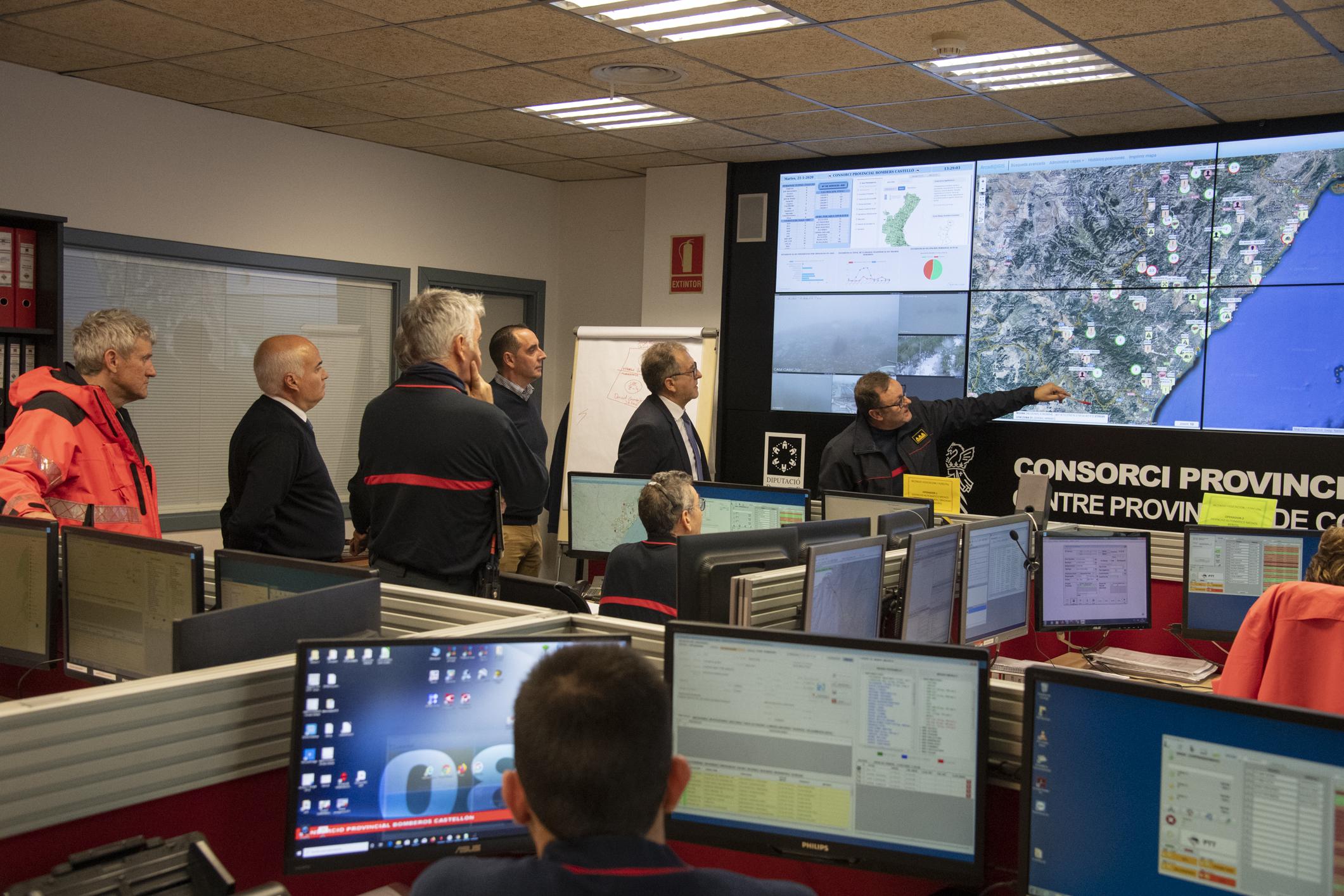 La Diputació activa un pla d'emergència per a pal·liar els danys per neu, pluja i temporal marítim a la província