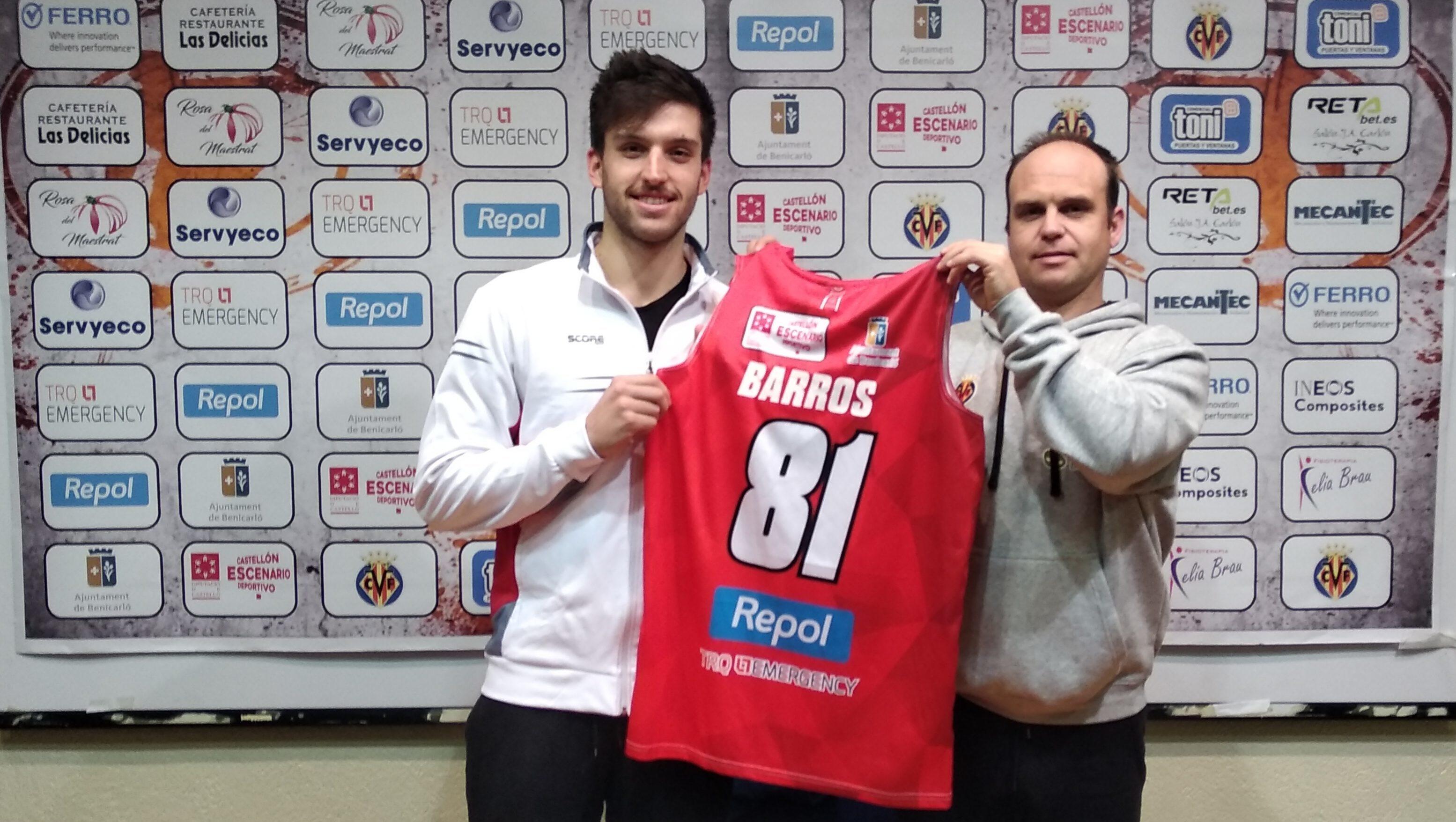 Samuel Barros, nou fitxatge del Club Bàsquet Benicarló