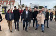 El president Puig es trasllada fins a Vinaròs per veure els efectes de la borrasca Glòria