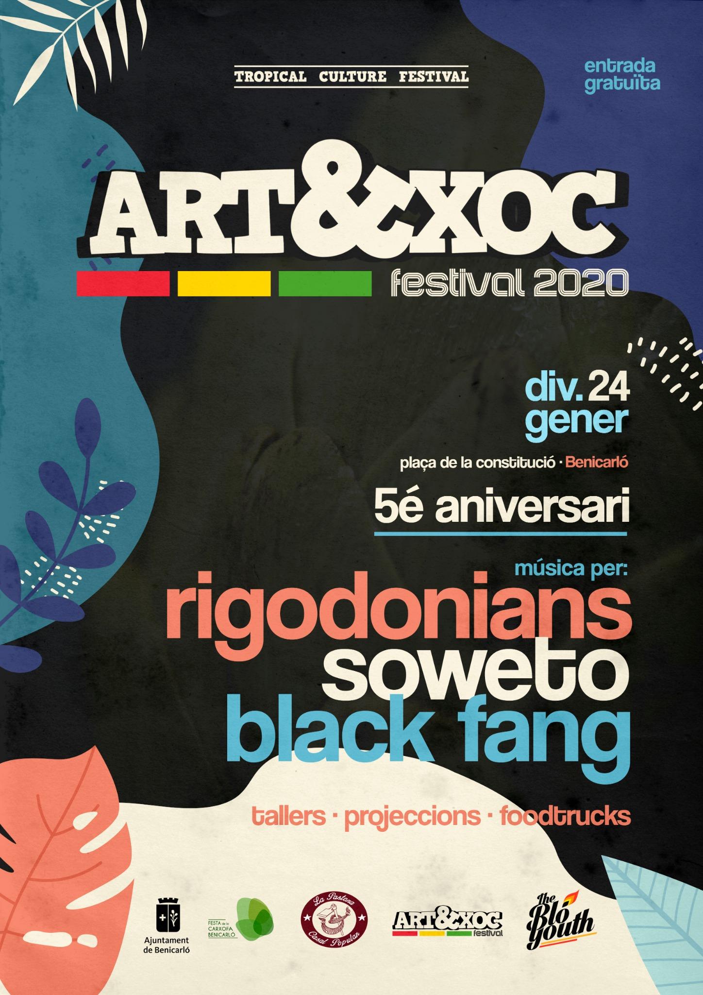 Soweto, Rigodonians i Black Fang protagonitzen el cartell de l'Art&Xoc de Benicarló