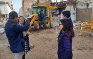 S'enderroca l'última casa fora de línia de façana del carrer de València de Benicarló