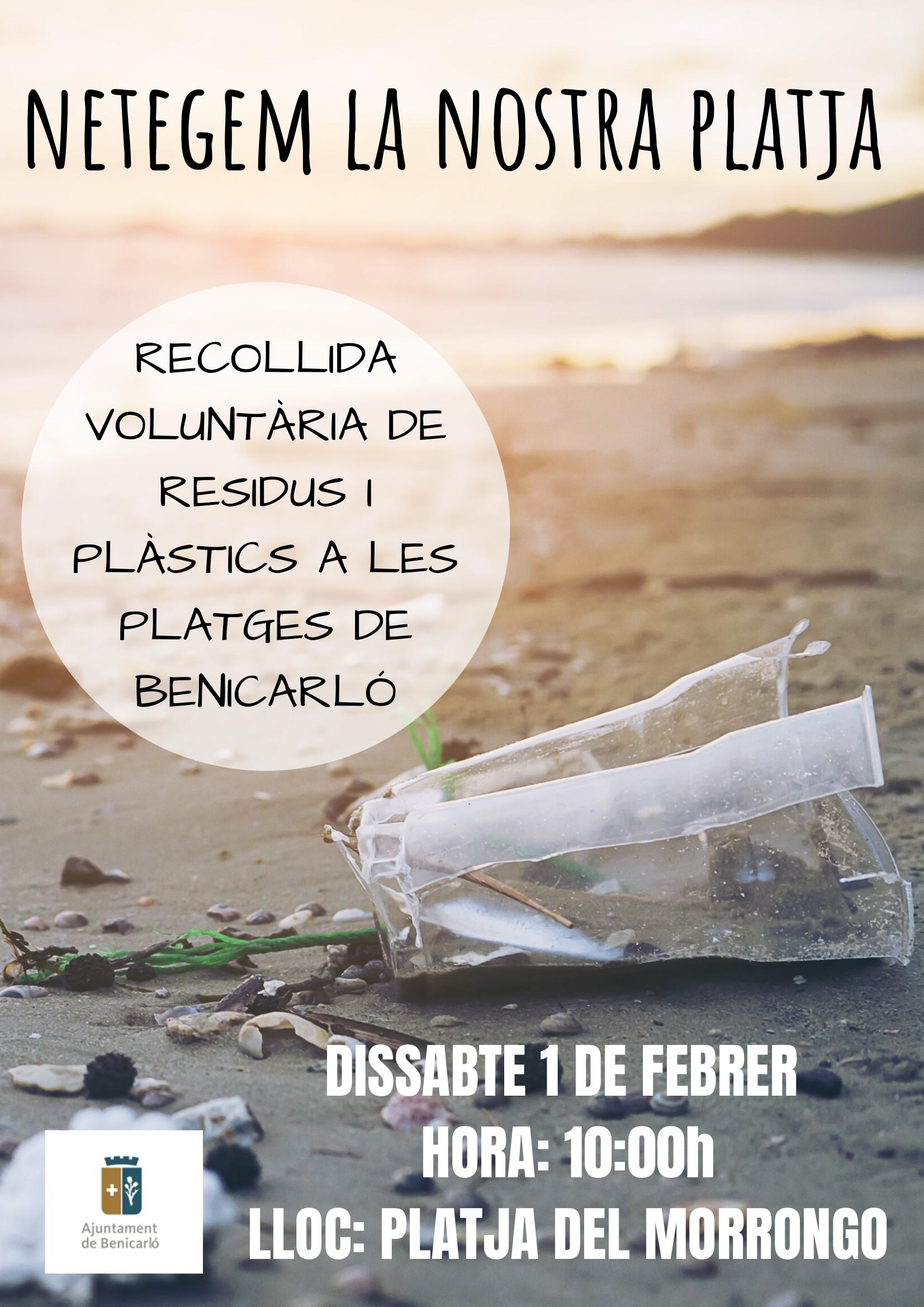 Dissabte, recollida voluntària de residus i plàstics a les platges de Benicarló