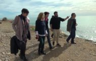 Vinaròs; Visita de Marisa Saavedra, diputada al Congrés por Unides PODEM a Vinaròs per comprovar els danys de Glòria 29-01-2020