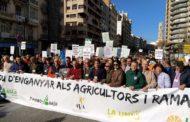 Més de 20.000 agricultors col·lapsen València en la major protesta del camp en la Comunitat Valenciana d'aquest segle