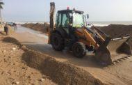 L'Ajuntament d'Alcanar quantifica en prop d'1,5  milions d'euros els danys pel temporal Glòria a la costa canareva
