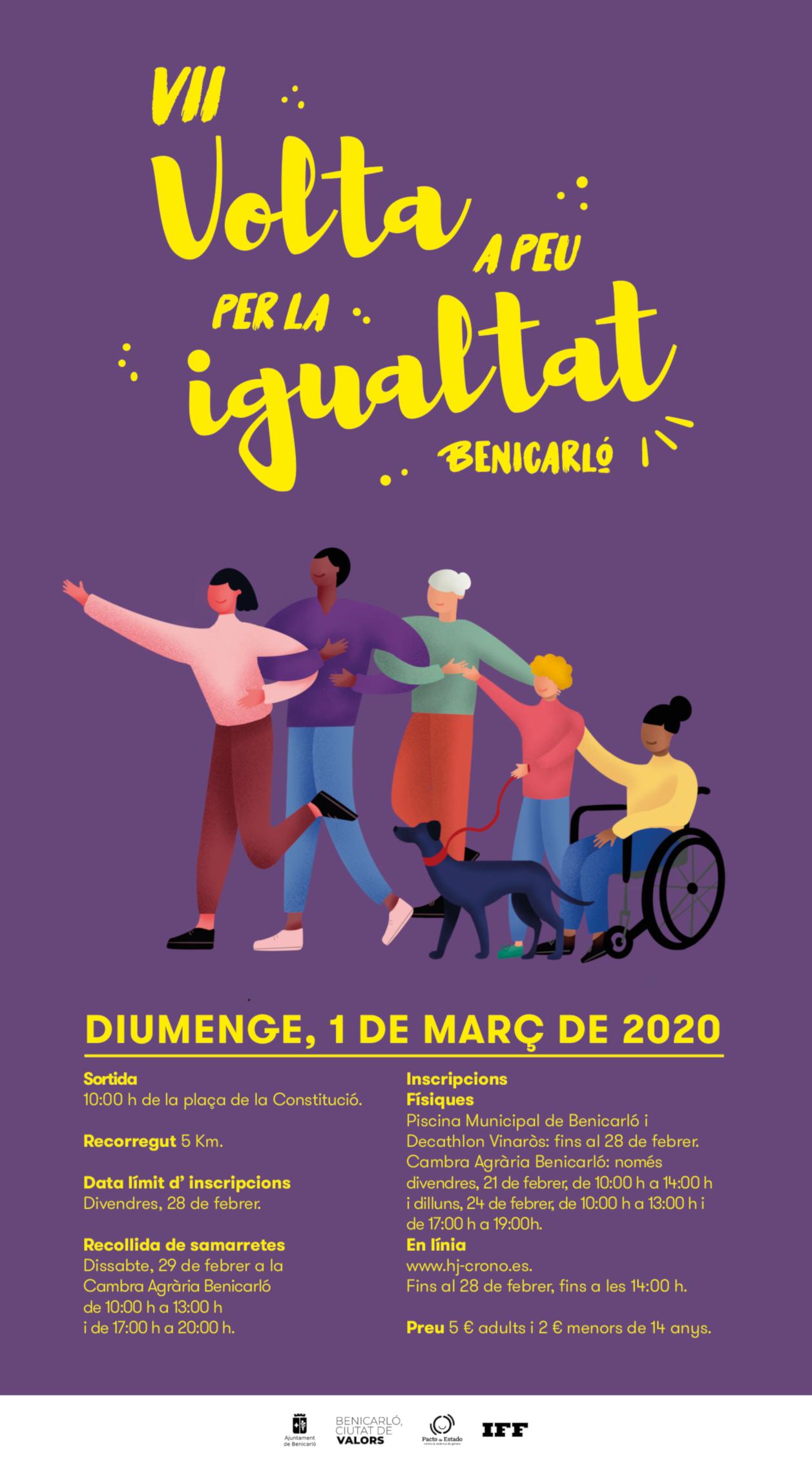 La Volta a Peu per la Igualtat de Benicarló inaugurarà la programació del Dia Internacional de la Dona