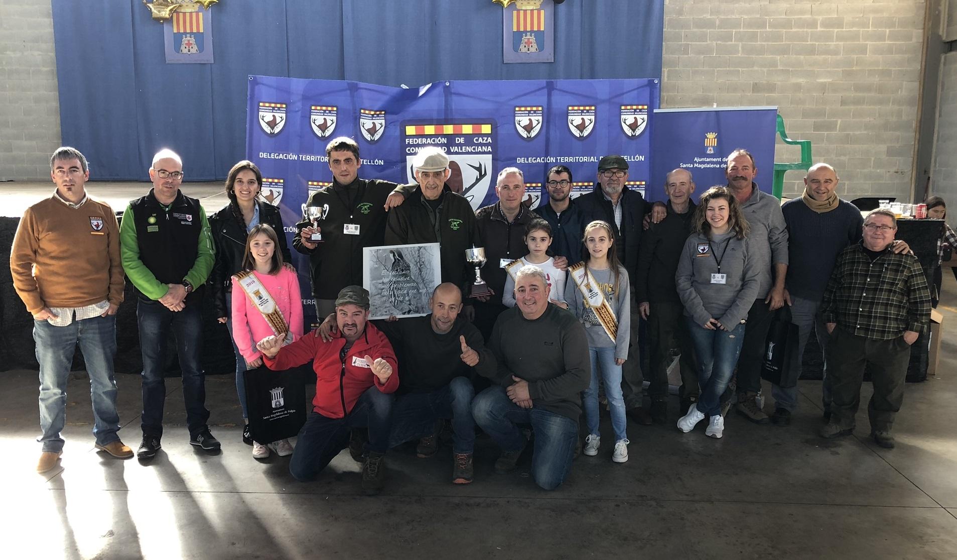 Domingo Sorlí guanya el IV Campionat provincial de caça de perdiu amb reclam de Santa Magdalena