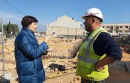 Les obres de construcció del nou col·legi Araboga de Canet lo Roig avancen a bon ritme