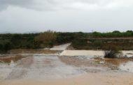 L'Ajuntament de Càlig informa del tall de diversos vials com a conseqüència de la pluja