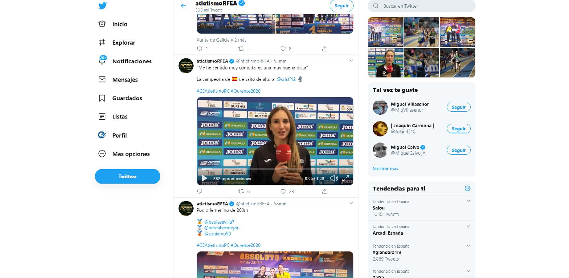 La benicarlanda Cristina Ferrando es proclama campiona d'Espanya en salt d'altura amb 1.85m