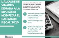 L'Ajuntament de Vinaròs demana a la Diputació modificar el calendari fiscal