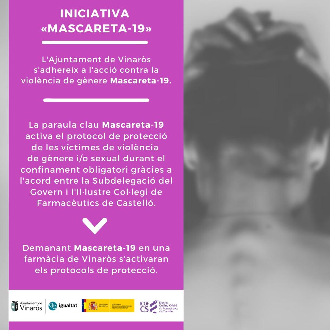 Vinaròs s'implica contra la violència de gènere amb «Mascareta-19