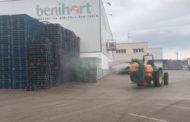 Benihort mostra les tasques de prevenció i desinfecció que estan duent a terme en les seues instal·lacions