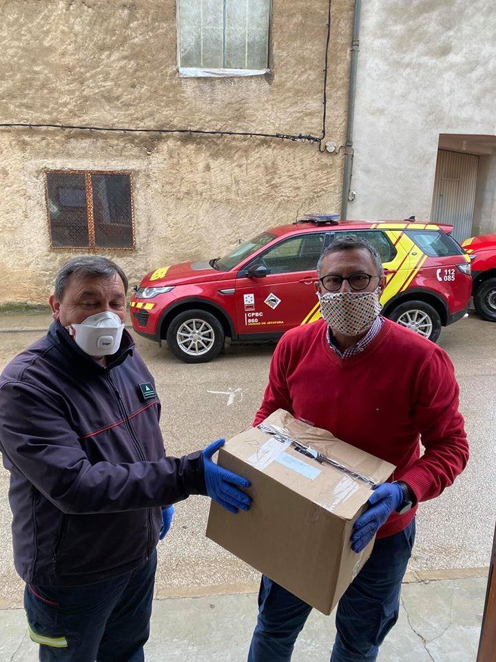 Tírig rep material de protecció i lleixiu de la Diputació per a lluitar contra el Coronavirus
