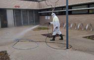 Alcanar comença la desinfecció en les zones amb més perill del municipi