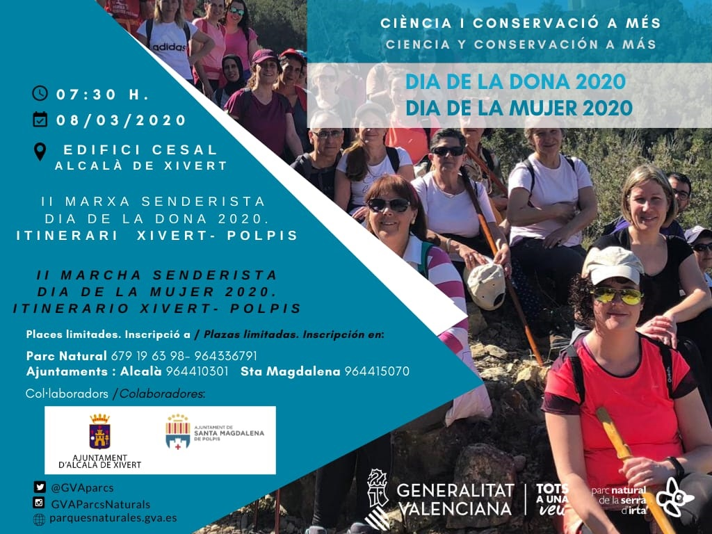 El Parc Natural de la Serra d´Irta organitza la II Marxa Senderista del Dia de la Dona