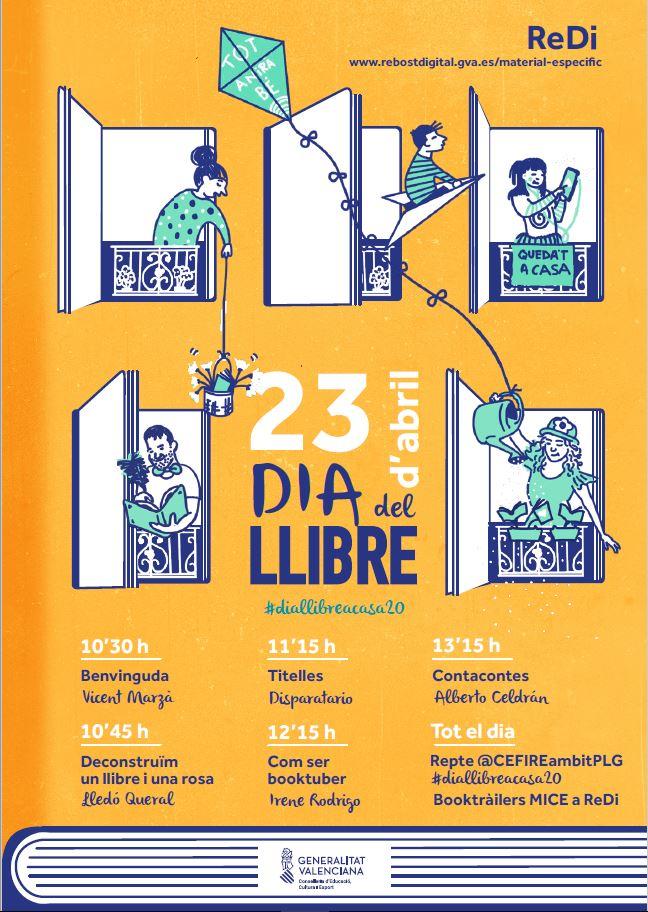 Educació organitza videopropostes per a celebrar el Dia del Llibre