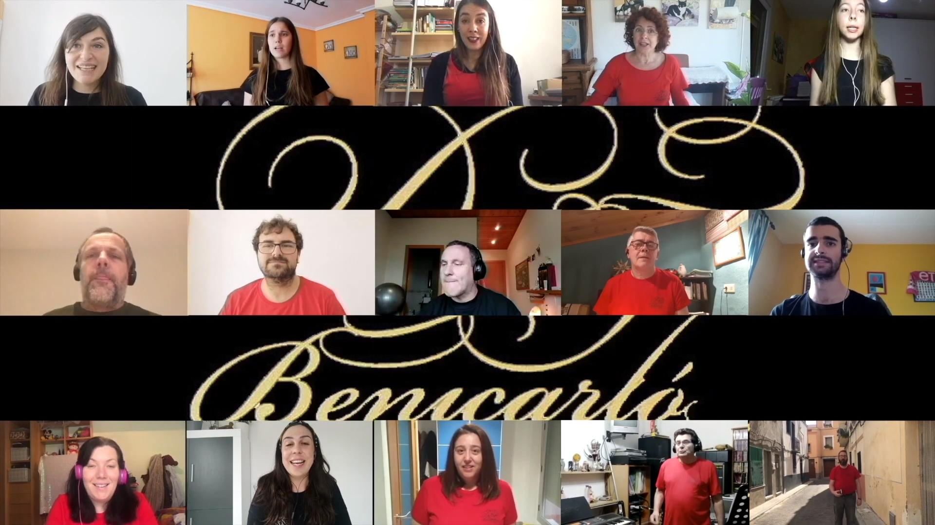 Cor Da Capo Benicarló celebra els seus quinze anys amb un vídeo realitzat des del confinament